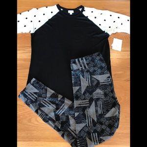 2 piece LuLaRoe Outfit. Lg Randy/Tall & Curvy
